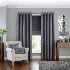 Silver Curtains For Bedroom Details About Luxury Herringbone Tweed Silver Grey Curtains