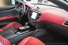 2016 maserati ghibli quattroporte get zegna interior options