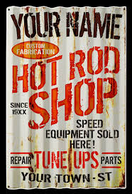 to find out more about hot rod corrugated personalized sign