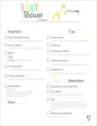 Baby Shower Gift Registry Newborn Baby Checklist Printable Printable