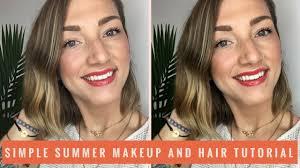 simple summer makeup and hair tutorial alexjane