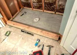 installing shower cost to install tile shower pan tile shower pan installing before and after love