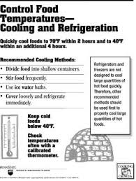 Proper Food Cooling Chart Free Food Hygiene Posters