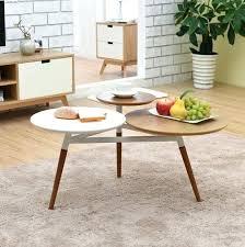 circle coffee table fresh 3 tier round com white wood