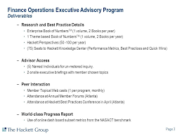 finance operations executive advisory program ppt video online  finance operations executive advisory program deliverables