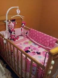 minnie mouse baby crib bedding