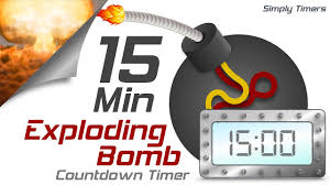 Timer Fifteen Minutes 15 Min Exploding Countdown Timer