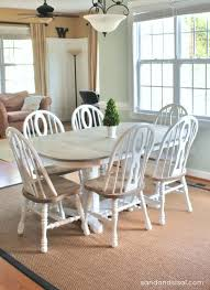 painting old real wood tables to look more modern two toned painted furniture