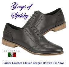 las girls black leather oxford brogue smart formal shoe sizes 3 9