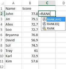 Rank Functions Excel Excel Percentrank Function Percentile Rank Statistics How To