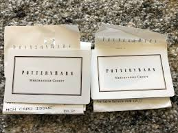 dels about 268 30 pottery barn merchandise credit gift cards west elm pb william sonoma