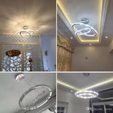 2018 crystal chandelier new design 60cm cut crystal led pendant with oval two rings ceiling light fixture from lovea 234 18 dhgate com