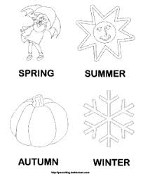 Small Picture Printable Seasons Coloring Pages