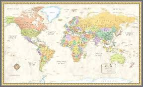 rand mcnally classic world map elegant rmc classic world wall map mural poster canvas