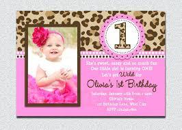 1st Birthday Party Invitation Templates Sample Birthday Invitation