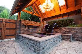 hot tub gazebo craftsman garden