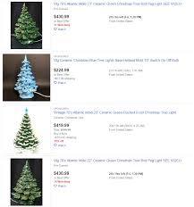 Atlantic Mold Ceramic Christmas Tree Lights Vintage Ceramic Christmas Trees Selling For 218 Dollars On