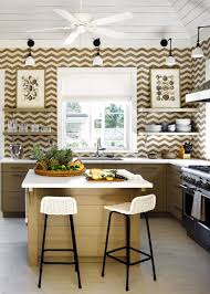 view in gallery beach house kitchen with modern open shelving