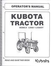 kubota heavy equipment parts & accessories manual tractor ebay Kubota L2900 Wiring Diagram kubota l2050, l2050dt tractor operator's manual w wiring diagrams & maintenance kubota l2900 tractor wiring diagram