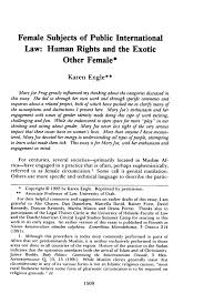 female subjects of public international law human rights and the what is heinonline