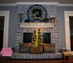 painted brick fireplace farmhouse inspiration, chalk paint, fireplaces  mantels, painted furniture
