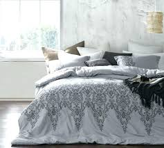 oversized king duvet baroque stitch comforter alloy pewter embroidery cover white 108 x 96 em