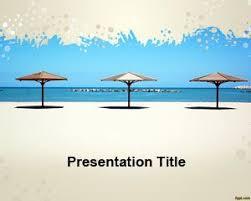 Free Umbrella Beach Powerpoint Template