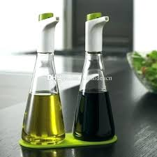 quality best olive oil dispenser olive oil dispenser top set of 2 oil and vinegar push on dispenser bottle sprayer lead free glass cruet bottles with