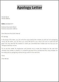 apology letters print paper templates professional apology letter sample letters