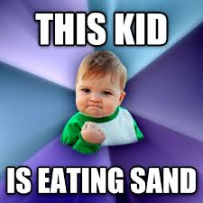 Image result for kid eating sand