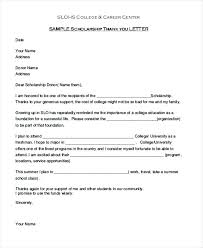 Thanks Letter For Donation Thank You Letter For Donation Tips On Writing Scholarship Sample
