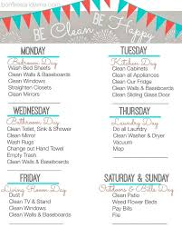 daily weekly house cleaning schedule house cleaning schedule daily house cleaning checklist printable