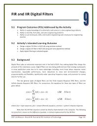 Matlab Code For Fir Filter Design Using Rectangular Window Pdf Chapter 9 Fir And Iir Digital Filters