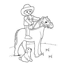 Leuk Voor Kids Playmobil Poppetje Op Een Paard