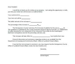 Raise Rent Letter Landlord Rent Increase Letter Fabulous Template For Notice To Best