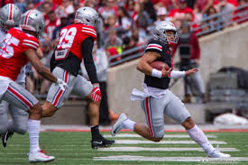 Ohio State Spring Game Depth Chart Justin Fields Can Run The Ball But Came To Ohio State To