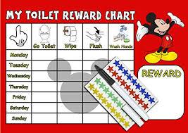 Potty Toilet Training Reward Chart Boys Mickey Mouse