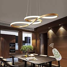 <b>Modern LED</b> Acrylic Chandelier <b>Dining Room</b> Dimmable 3000K ...