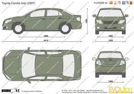 The-Blueprints.com - Vector Drawing - Toyota Corolla Axio