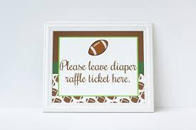 raffle sign football diaper raffle sign diaper raffle ticket sign football