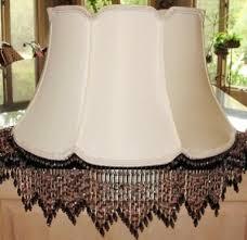 custom lamp shade with beaded fringe