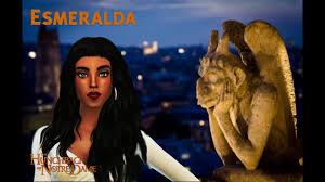 The Sims 4 CAS + editing - Disney Character: Esmeralda - YouTube