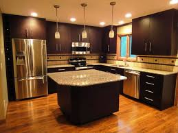Painted Black Kitchen Cabinets Kitchen Paint Color Ideas With Dark Brown Cabinets Winda 7 Furniture