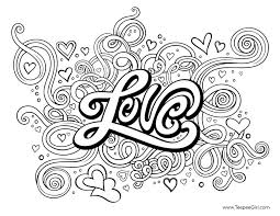Heart Colouring Picture Popular Love Coloring Pages For Adults