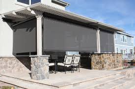 louvered roof patio cover with sun