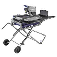 kobalt 10 in wet dry tabletop sliding table tile saw with stand