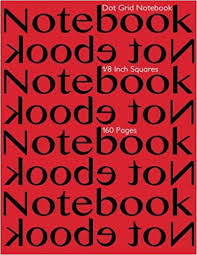 Dot Grid Notebook 1 8 Inch Squares 160 Pages Notebook Not Ebook