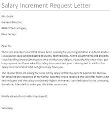 request for salary increase template salary raise letters pay letter from employer increase to template