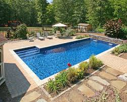 backyard design with pool. Off Side Stairs Makes For An Uninterrupted Long Lap Pool. Added Bonus, Waterfalls On The Deep End. Backyard Design With Pool S