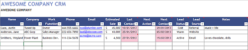 Excel Crm Templates An Excel Template For Every Occasion